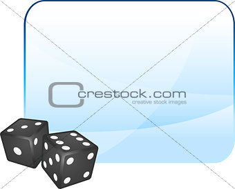 Black Dice on Blank Background