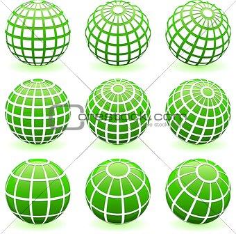 Green Globe Set