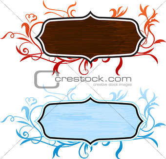 abstract frames on internet background