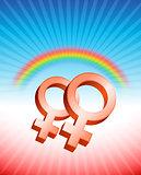 Lesbian Relationship Gender Symbols