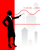 Businesswoman presenting Graph