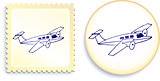 Airplane on Button and Stamp Set