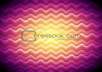 Abstract shiny waves background