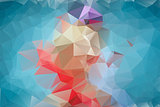 Abstract blue polygonal background.