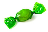 green candy wrapped in foil