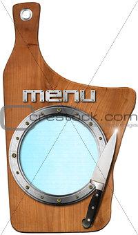 Cutting Board - Menu Template
