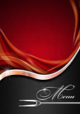 Menu Template - Red Metal and Black