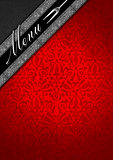 Menu Template - Silver and Red Velvet