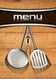 Menu Template - Wood and Metal