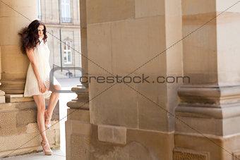 beautiful woman fashion outdoor in summer