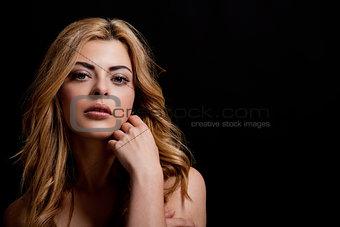 beautiful natural woman portrait sensual