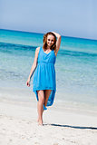 beautful happy woman on the beach lifestyle summertime
