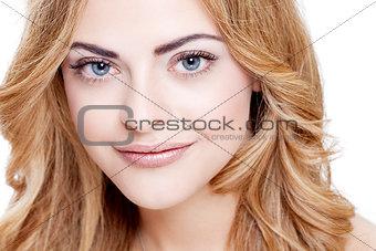 beautiful young woman portrait natural makeup