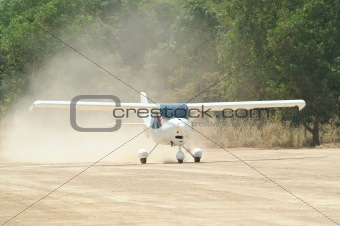 Small, white airplane