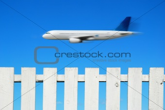 Airpane and a White Fence