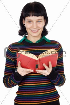 attractive girl reading