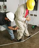Electrician &amp; Supervisor Bend Pipe