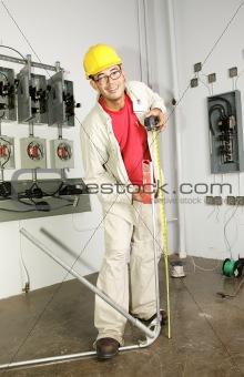 Electrician Bending Pipe