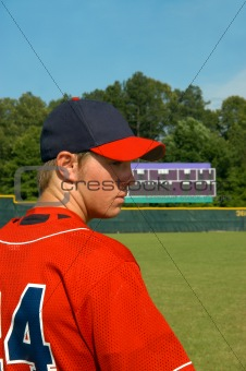 Ball Player on Field