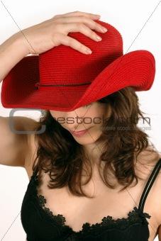Red cowboy hat