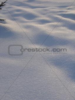 Calm snow Stock