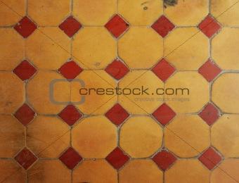 old ceramic floor texture