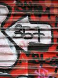 graffiti on a shop window