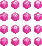 Tourist Locations Cube Icon Set
