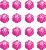 Web Search Cube Icon Series Set