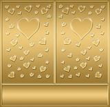 two gold hearts