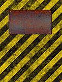 warning sign plaque