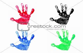 Four Hand Prints