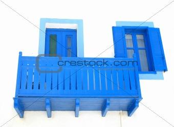 Blue Balcony, Door, and Window