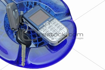 Car Key and Mobile Phone