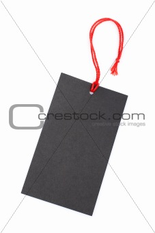 Black price tag