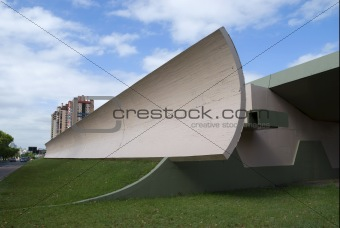 Architectural detail - quarter pipe