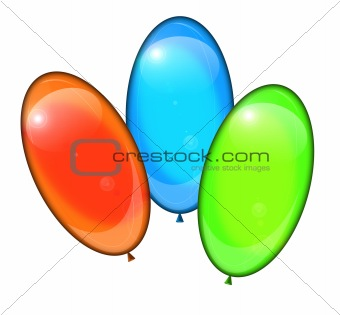Three isolated balloons