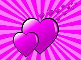 Funky Valentines Background