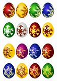 Easter eggs vector icon set