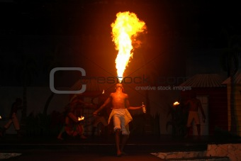 A Fire Breather show in Punta Cana