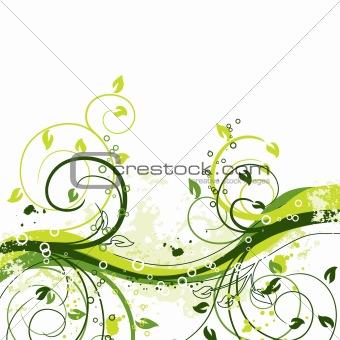 Grunge floral backgrounds, vector