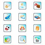 vacation vector icon set