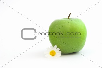 Grenn Apple with a flowers
