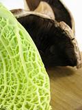 Cabbage and portabello