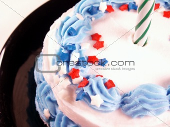 cake with green candle