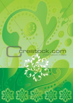 green color Batik design