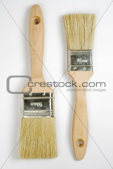 Pair of paintbrushes
