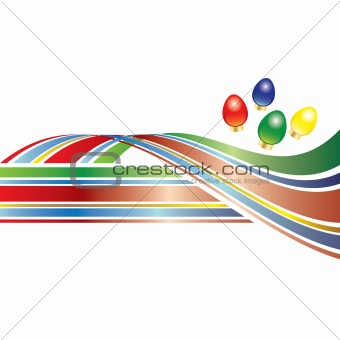 Bright and colorful vector Christmas lights