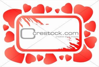 grunge heart frame