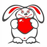 thick rabbit and heart